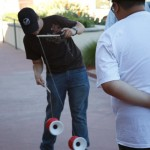 Blaine shows off some sweet moves with the Phoenix diabolo.